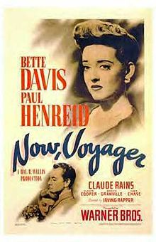 "Now, Voyager is a 1942 American drama film starring Bette Davis, Paul Henreid, and Claude Rains, and directed by Irving Rapper. The screenplay by Casey Robinson is based on the 1941 novel of the same name by Olive Higgins Prouty.  Prouty borrowed her title from the Walt Whitman poem ""The Untold Want,"" which reads in its entirety,  ""The untold want by life and land ne'er granted,  Now voyager sail thou forth to seek and find."""