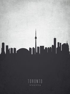Digital abstract drawing of Toronto Ontario skyline. A Level Textiles, Skyline Painting, Toronto Skyline, Magazine Layouts, Canvas Prints, Framed Prints, North York, Abstract Drawings, Cityscapes