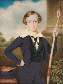 Archduke Franz Joseph in 1840 (portrait by Moritz Daffinger).