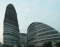 wangjing SOHO in beijing by zaha hadid nears completion
