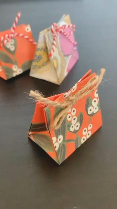 Diy Crafts Hacks, Diy Crafts For Gifts, Creative Crafts, Easy Paper Crafts, Paper Crafts Origami, Oragami, Origami Gift Bag, Creative Gift Wrapping, Baby Gift Wrapping