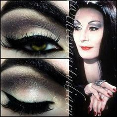 Morticia addams makeup #originalweddingmakeup