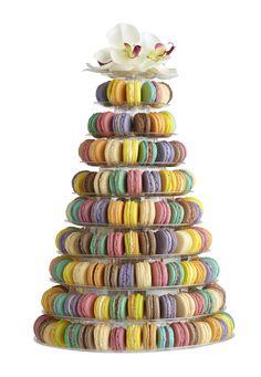 Macaron Tower #macarons www.nikkolettesmacarons.com
