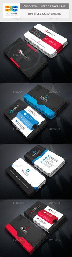Business Card Bundle 3 in 1 Template #design Download: http://graphicriver.net/item/business-card-bundle-3-in-1vol-57/12190231?ref=ksioks
