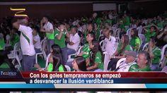 Así vivió la hinchada del Cali el partido final. Crónica - VER VÍDEO -> http://quehubocolombia.com/asi-vivio-la-hinchada-del-cali-el-partido-final-cronica    Por Paola Fernández Reportera de Pazífico Noticias El domingo pasado, centenares de optimistas hinchas del Deportivo Cali se dieron cita en la sede Alex Gorayeb. Con sus camisetas y banderas llegaron para alentar a su equipo en pantalla gigantes. La tensión llegó con el primer gol del...