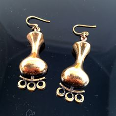 Scratch And Dent, Shops, Bronze, Beautiful Earrings, Jewelery, Conditioner, Stamp, Drop Earrings, Design