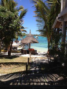 Hotel 20 Degrés Sud, Île Maurice Vue de la chambre beach front numéro 23!