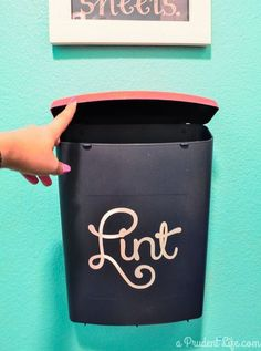 diy laundry room lint bin wall mounted, laundry rooms, organizing, storage ideas