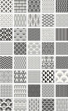 Pattern design art deco seamless patterns bundle by jessika on creative market – design Boho Pattern, Pattern Art, Pattern Design Drawing, Geometric Pattern Design, Geometric Designs, Motif Art Deco, Art Deco Design, Art Designs, Design Design