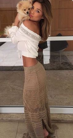 Summer Outfit - Cute maxi skirt & top wonderful, i prefer that image.
