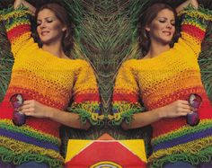 vintage PULLOVER crochet pattern 70s PDF by borisbeka on Etsy, $3.50