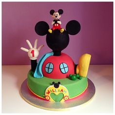 Mickey Mouse Clubhouse Cake Mary&Kat cake design
