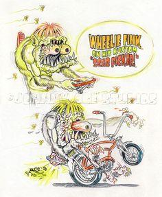 JOHNNY ACE Ed BIG DADDY Roth Rat Fink Original Art Bike Sting-Ray Krate MONSTER! #JohnnyAceStudiosEdBIGDADDYRoth