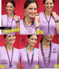 Abby Necklace Combos with Arabian Nights & Ribbons