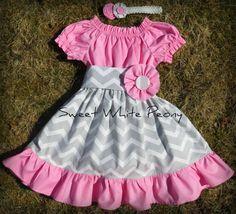 Peasant dress   Girls Dress Baby Dress  Pink by SweetWhitePeony