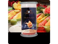 www.jewelryincandles.com/store/arielhickmon One of our many new releases. A mouthwatering array of candied citrus fruits.  Infused with natural essential oils Grapefruit and Tangerine.       Full size 21oz scented candle     100% all natural Soy candle      Burns for 100 to 150 hours.      Includes a surprise piece of jewelry in every candle.