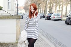 striped dress, outfit, streetstyle