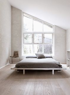 Love the low bed and angled window!