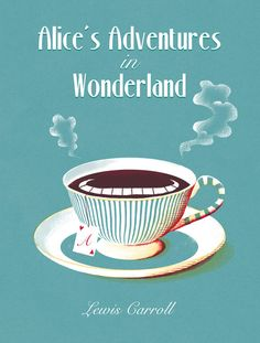 Alice in Wonderland – Book Cover – Momoko Abe Illustration Alice In Wonderland Poster, Alice In Wonderland Illustrations, Adventures In Wonderland, Book Cover Art, Book Cover Design, Lewis Carroll, Alice Book, Illustrated Words, Blue Poster