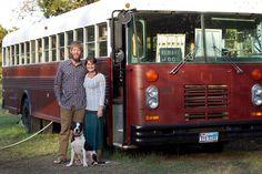 Vintage Bus Conversion Exterior