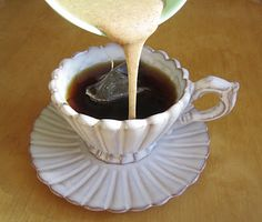 CHAI CONCENTRATE (The Oregonian) - good in coffee, too.   1-14 oz can of sweetened condensed milk  1 tsp. ground cardamom  1/2 tsp. ground cinnamon  1/2 tsp. ground cloves  1/2 tsp. ground nutmeg