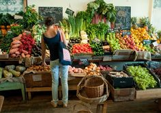an organic fruit and vegetable store