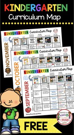Kindergarten Lesson Plans for Back to School - Free Curriculum Map - August