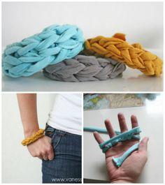 TWO Jersey Knit Bracelets