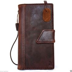 genuine vintage leather Case fit apple iphone 6 plus book wallet cover 5.5 inch in Cell Phones & Accessories   eBay