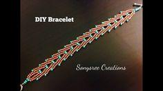 """""""A"""" Bracelet ...Herringbone Stitch"""