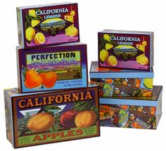 California Fruit Boxes (set of 3)- $20