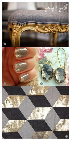 gray and gold