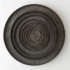 Habit & Form Circle Tray, Dark Zinc
