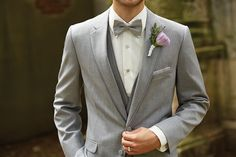 Allure Men Heather Gray Tuxedo Available at Milroy's!  www.MilroysTuxedos.com