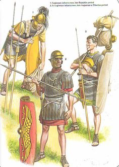 Late Republican and early Imperial Roman Legionaries.