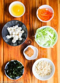 Miso Soup with Tofu, Wakame Seaweed, Rice and Egg - this is a Japanese inspired breakfast bowl that's healthy, hearty and comforting. It's packed with minerals, nutrients and protein. A great way to start the day off!