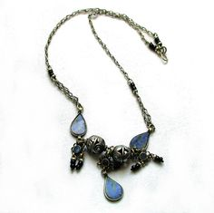 Vintage Afghan Lapis Tribal Turkomen Necklace from MorningGlorious, $22.00