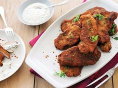 Pork Milanese with Creamy Caper and Lemon Sauce