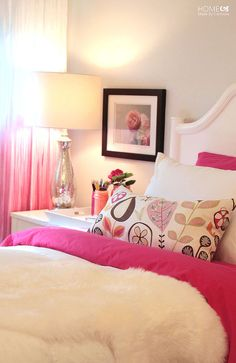 Princess Pink Bedroom Reveal - I love my girly little munchkins, so creating a super princessy pink-all-over room wasn't hard despite of my aversion to pink. *g…