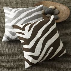Zebra Pillow Cover. They match nothing in my house but I still want them!