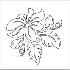 Curling Poinsettia - Motif