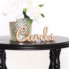 Cards Wooden Word Cutout for Wedding
