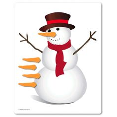 Easy Pin the Tail game for winter... Except it's a carrot nose on the snowman. Cute!