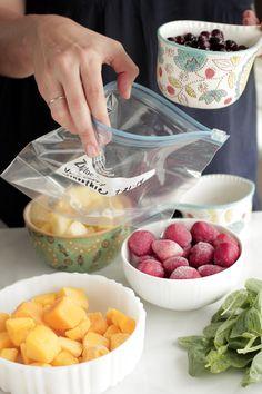 DIY Freezer Smoothie Packs and Smoothie Recipes!