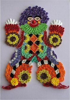 Quilled Clown - by: Quilling Creaties-Baukje: Quilling Schilderij