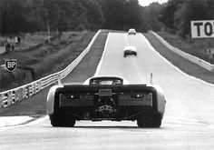 1971 Le Mans week end test. Porsche Pink Pig 917/20.( R. Joest / W. Kauhsen).