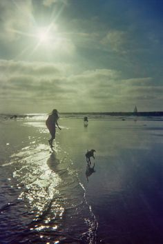 Perfect moment in Ocean Beach, San Diego with my good friend and her dog Lola. I'm missing her!