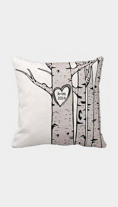 Pillow Cover Wedding Gift Cotton Anniversary Gift