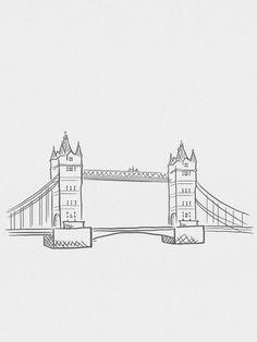 Tower Bridge Minimalista - On The Wall   Crie seu quadro com essa imagem https://www.onthewall.com.br/design-by-on-the-wall/minimalista/tower-bridge-minimalista #quadro #canvas #moldura #decor #londres #minimalista