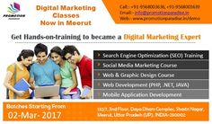 Digital Marketing Classes now in Meerut. We offer programs & courses on all aspects of digital media marketing to freshers as well as working.#SEO #SMO, #PPC etc. For more info: www.promotionparadise.in/demo call: +91-9568003639, +91-9568003636